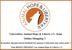 Boost-Projekt von Animal Hope & Liberty