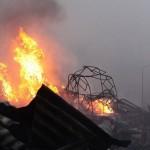 Alles zerstört durch den Brand