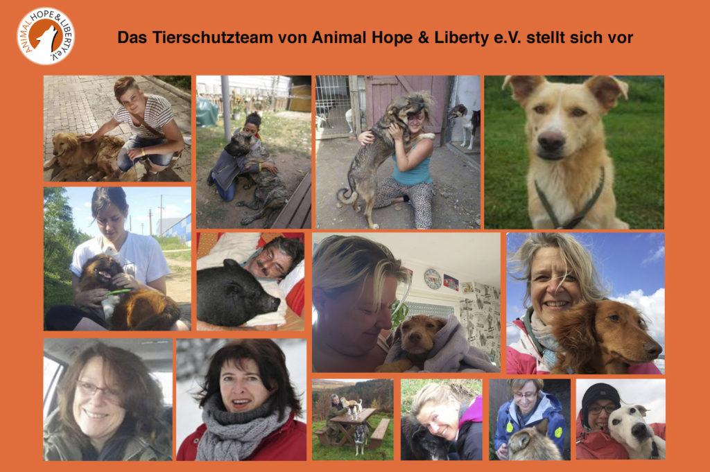 Das Tierschutzteam von Animal Hope & Liberty e.V.